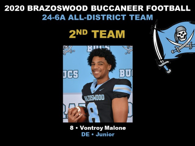 Image for Congratulations Vontroy Malone