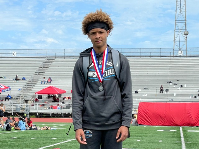 Brazoswood Men's Freshman and JV track teams ended their seasons with a strong performance at the 6A- District 24 track meet