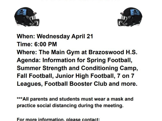 Image for 2021 SPRING FOOTBALL PARENT MEETING