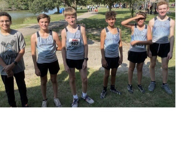 Image for 9th Grade Boys run at the Running with the Wolverines invitational