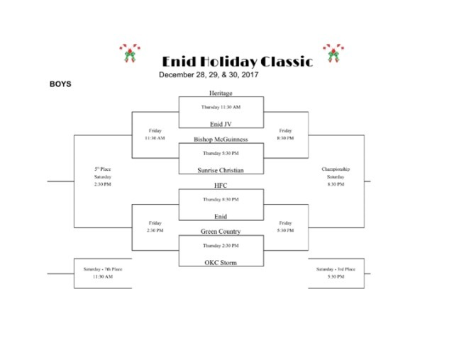 Keep up with the Boys at the Enid Holiday Classic!