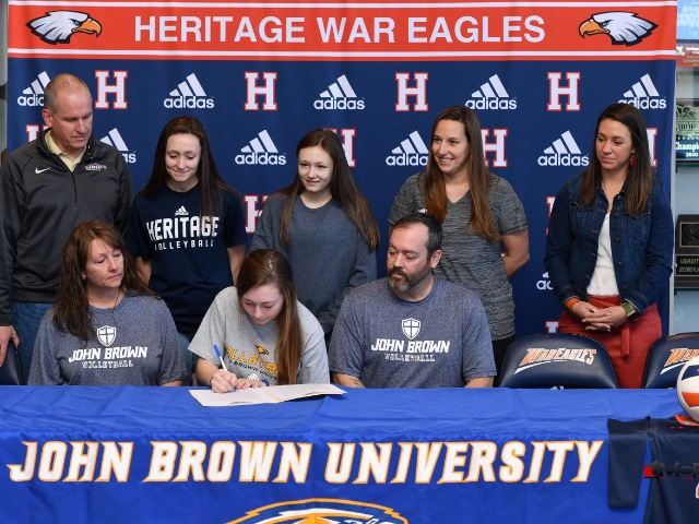 Brittney Ware signs with John Brown University to continue her Volleyball career