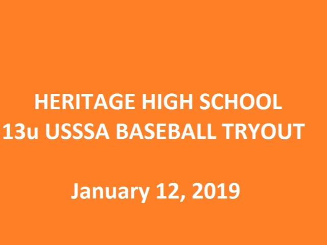 13u USSSA Baseball Tryout