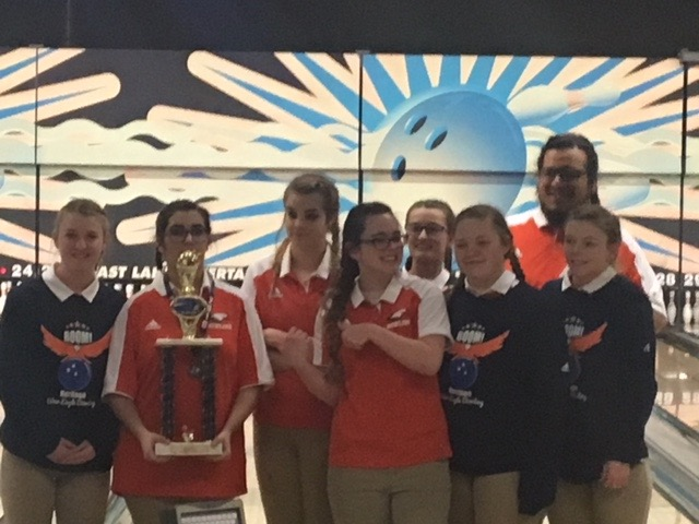 HHS Girls Bowling - 7 A West Conference Runner-up for  2017