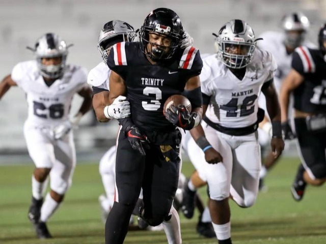 Theus and Barnett run for nearly 450 yards and 6 TDs in Euless Trinity win over Martin