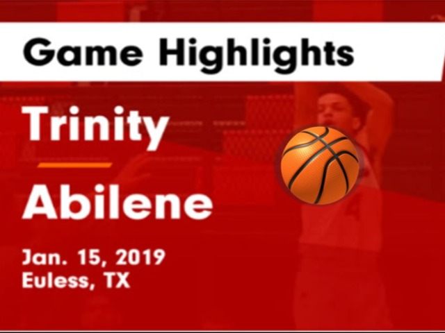 Trinity vs Abilene Game Highlights - Jan. 15, 2019