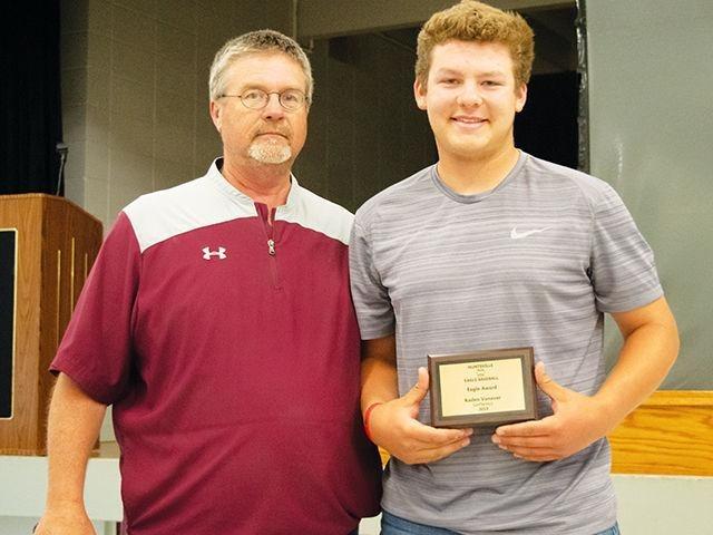 Kaden Vanover given Eagle Award during baseball banquet