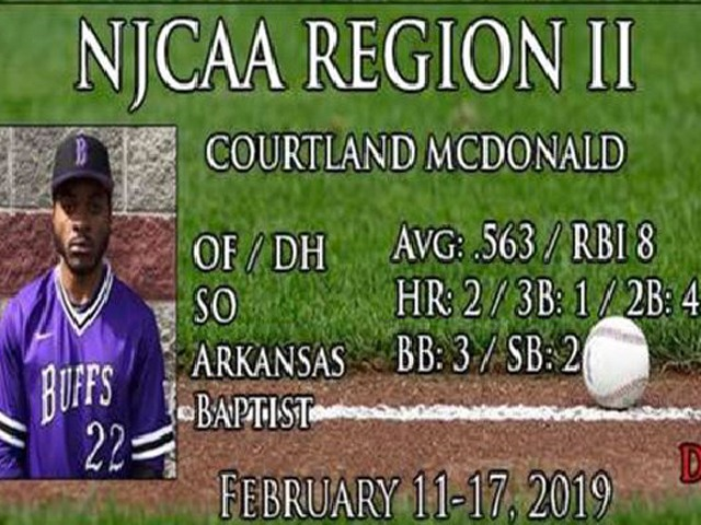 Courtland McDonald named player of the week this week!!