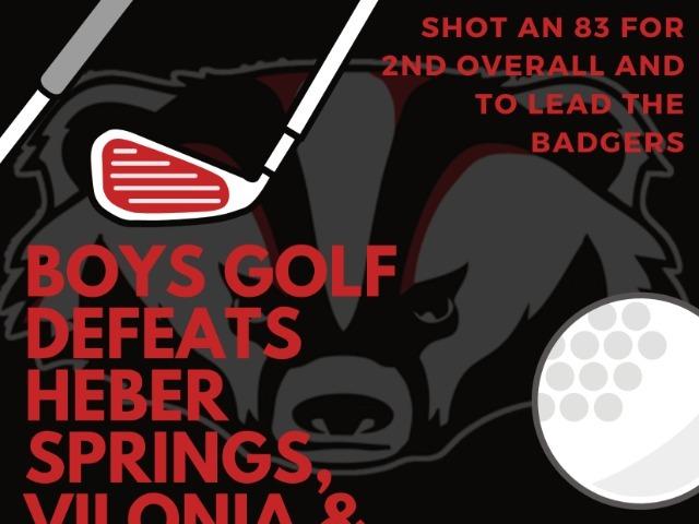 Boys Golf Wins!