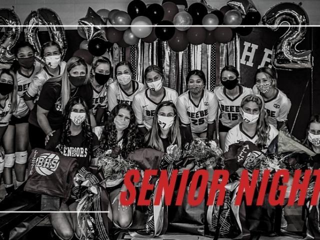 Varsity Volleyball Wins on Senior Night