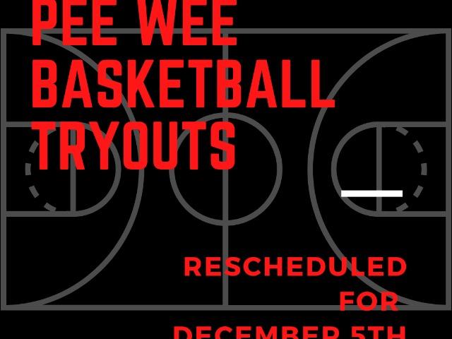 Pee Wee Basketball Tryouts