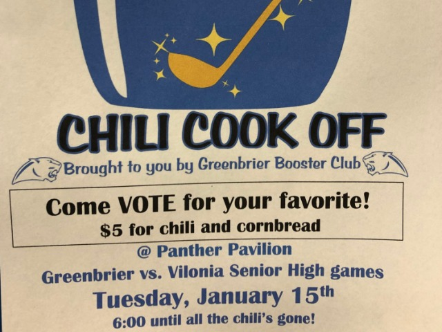 Booster Club Chili Cookoff