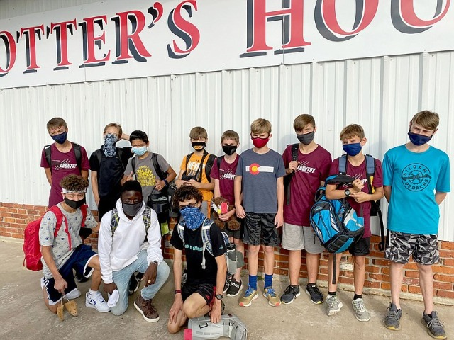 Cross country program volunteers at Potter's House