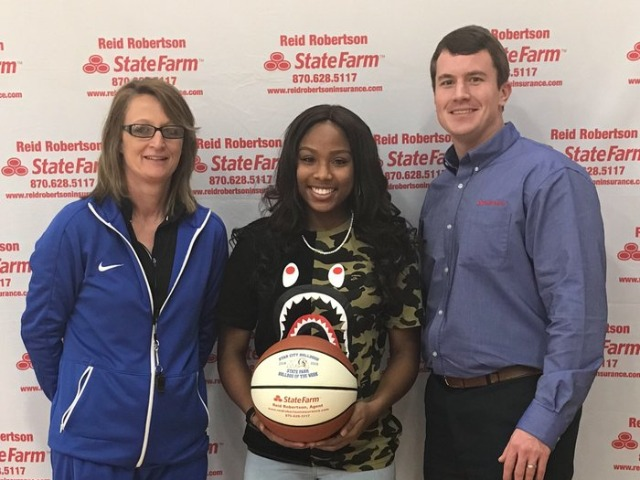Breanna Grayson  selected State Farm player of the week