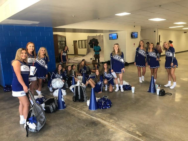 Senior High Cheerleaders get ready for Fall Sports Pictures