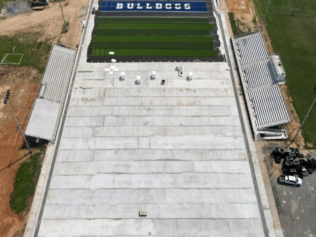 Football Field Turf Project Moving Along Rapidly