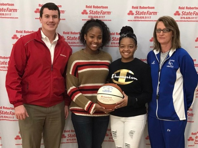 Breanna Grayson and Kyaira Jackson selected State Farm players of the week