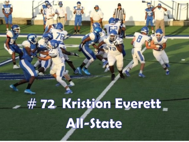Kristion Everett Named 4A All-State in Football