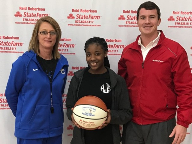 Arriana Johnson  selected as State Farm Player Of The Week