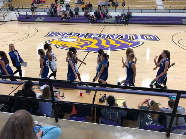 Lady Dogs move to 1-0 with a 40-25 victory!