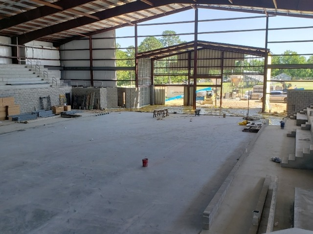 Star City Arena now has a Concrete Floor