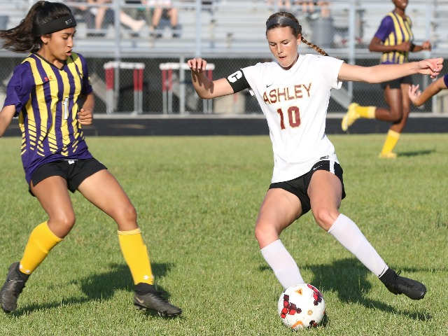 Ashley girls soccer blanks Jack Britt