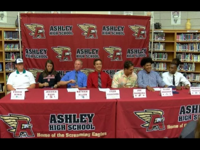 Ashley High School hosts signing day