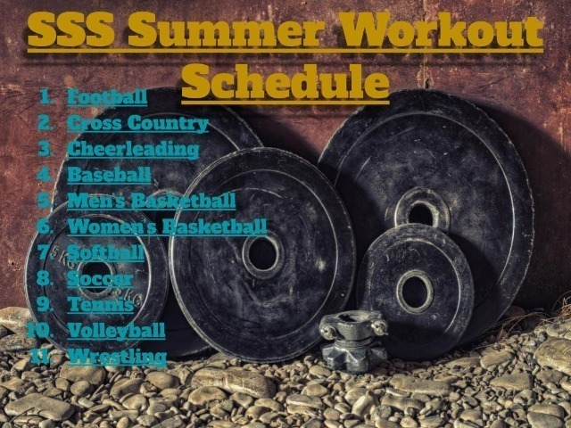 Summer Workout Schedules
