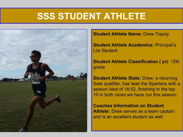 SSS Student Athlete of the Week