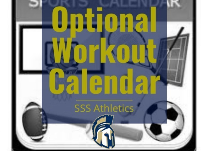 Optional Workout Calendar for SSS Athletic Teams