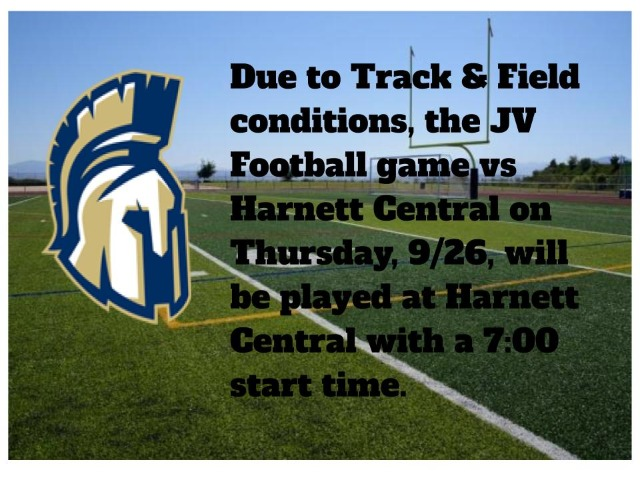 JV Football Game is Moved