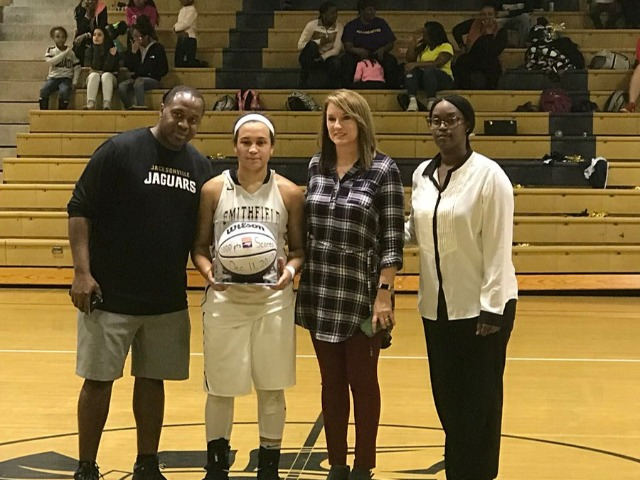 Logan Lee 1000 point presentation!