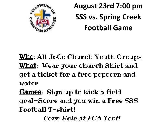 FCA Night: August 23rd