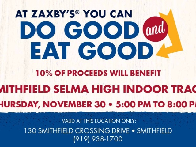 Please come out to Zaxby's in Smithfield to support our Indoor Track program