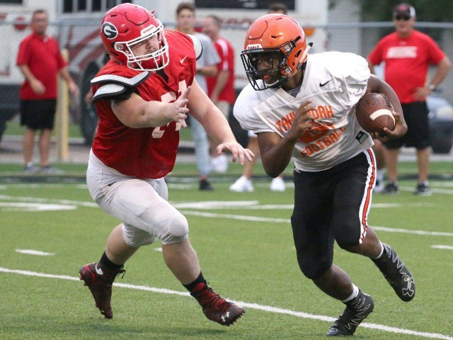 Tigers impress in opening scrimmage against Grove