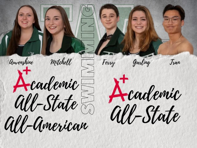 WHS swimmers recognized for academics