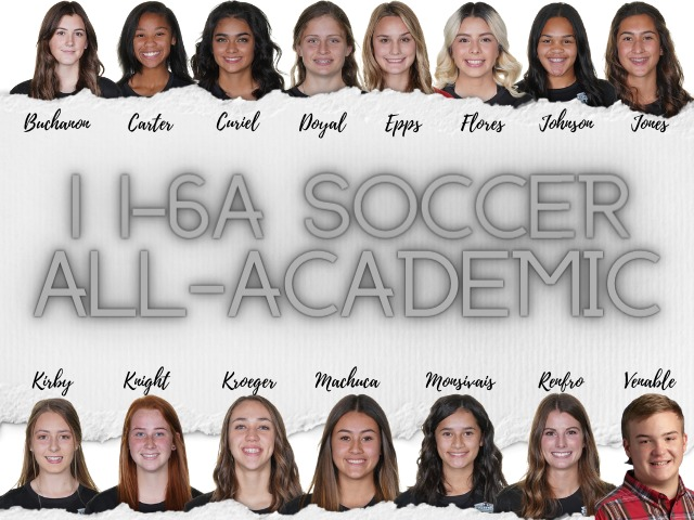 Girls Soccer Academic All District