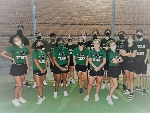Image for Indians' tennis season under way: WHS has record number of students in high school program this year