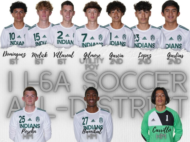 Soccer Indians receive all-District 11-6A honors