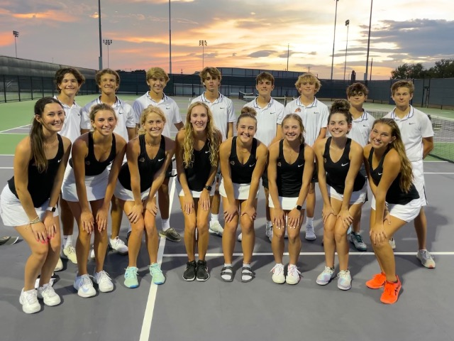 Aledo Varsity Tennis clinches playoff spot by beating Granbury and Azle