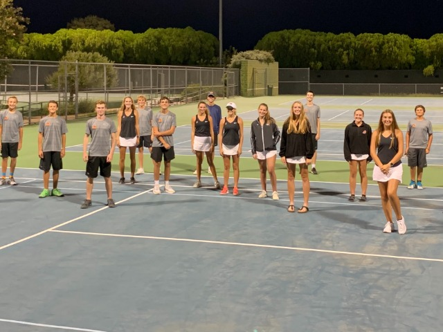 Image for AHS Tennis wins District opener against Wichita Falls Rider