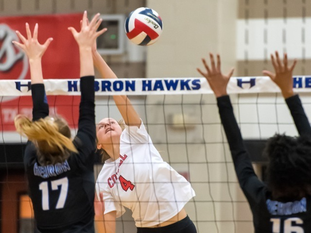 Cowgirls Sweep Hebron For Second Time In District Play!!