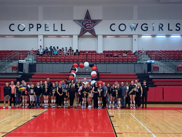 Cowgirls sweep the Farmers in 3 on Senior Night