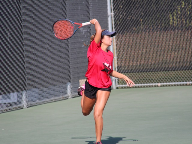 Coppell Tennis Splits Team Matches