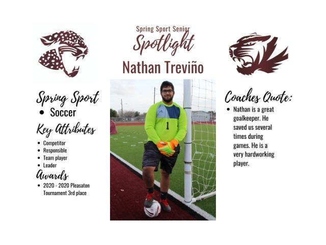 Spring Sport Senior Spotlight- Nathan Treviño