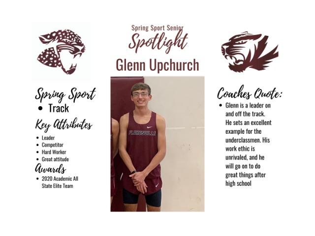 Image for Spring Sport Senior Spotlight- Glenn Upchurch