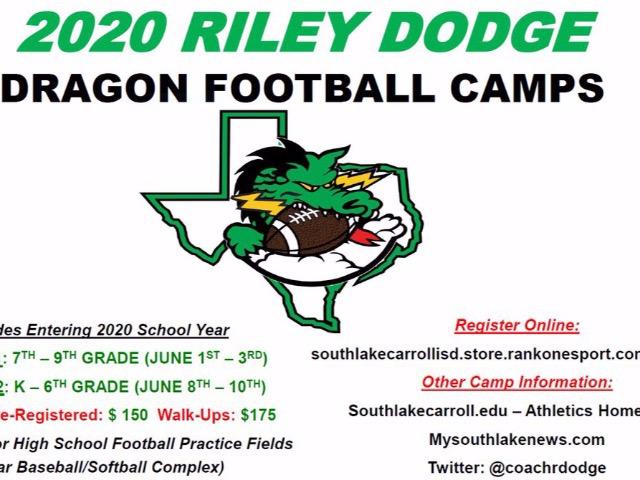 2020 Riley Dodge Dragon Football Camps