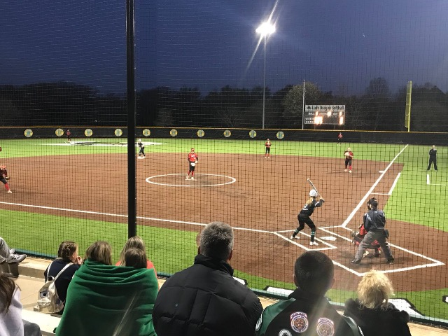 Lady Dragon Softball build 4 run lead and survive a Marcus late rally