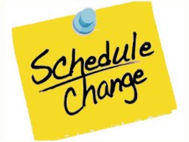 All Soccer games changed to Wednesday, Feb. 12th