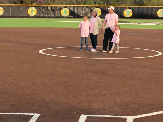 Lady Dragon Softball STRIKE OUT CANCER and strike back at Bell late